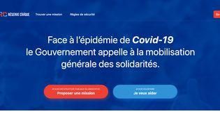 Capture d'écran du site gouvernemental covid19.reserve-civique.gouv.fr, réalisée le 26 mars 2020. (FRANCEINFO)