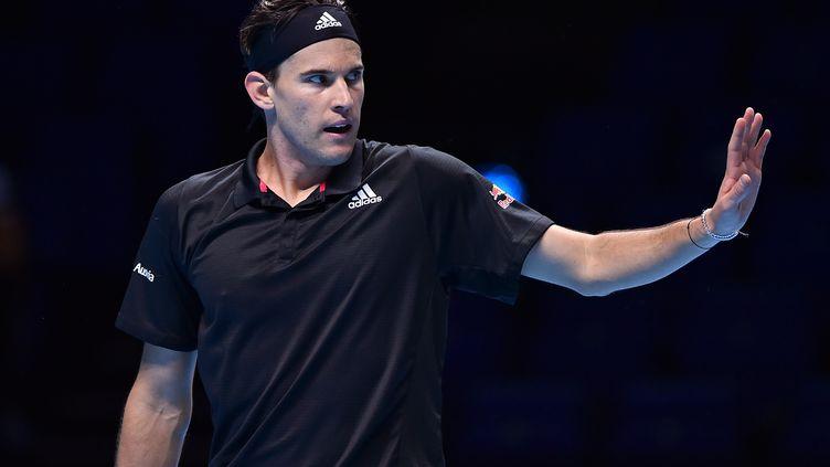 Dominic Thiem a tenu son rang et pris sa revanche sur Stefanos Tsitsipas. (GLYN KIRK / AFP)