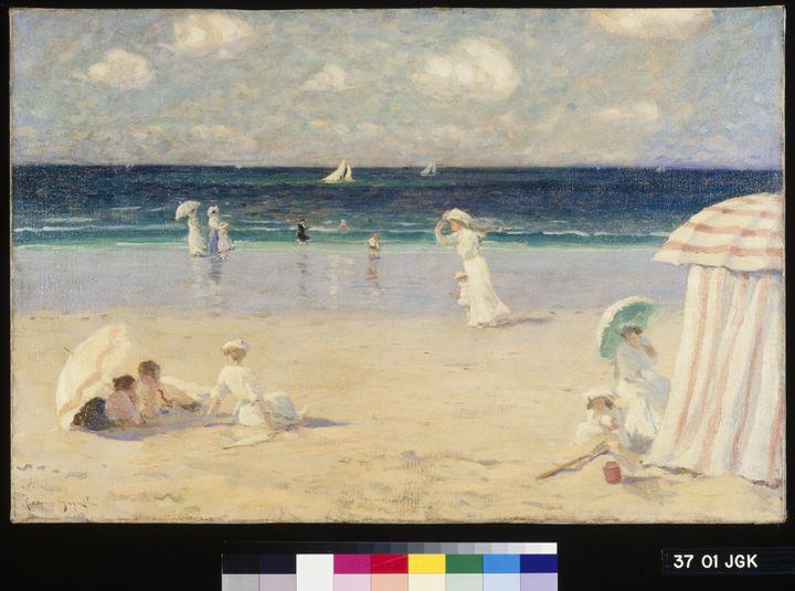 Clarence Gagnon. Brise d'été à Dinard. 1907. huile sur toile 54 × 81 cm. Collection du Musée national des beaux-arts du Québec (© MNBAQ, Jean-Guy Kérouac)