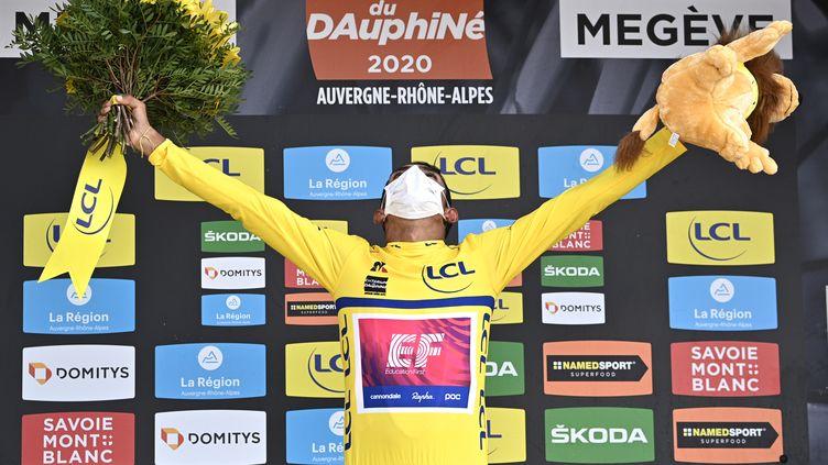Daniel Felipe Martinez, le vainqueur surprise du Critérium du Dauphiné 2020. (ANNE-CHRISTINE POUJOULAT / POOL)