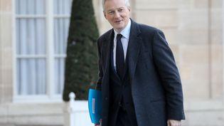 Le ministre de l'Economie Bruno Le Maire à l'Elysée, le 12 décembre 2018. (LUDOVIC MARIN / AFP)
