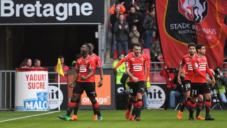 Rennes et Monaco se quittent sur un match nul (1-1).  (LOIC VENANCE / AFP)