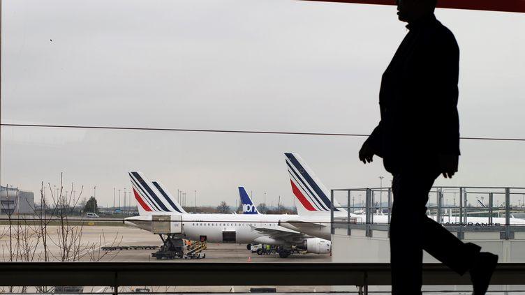 Aéroport Roissy-Charles-de-Gaulle, en mars 2018. (IAN LANGSDON / EPA / MAXPPP)
