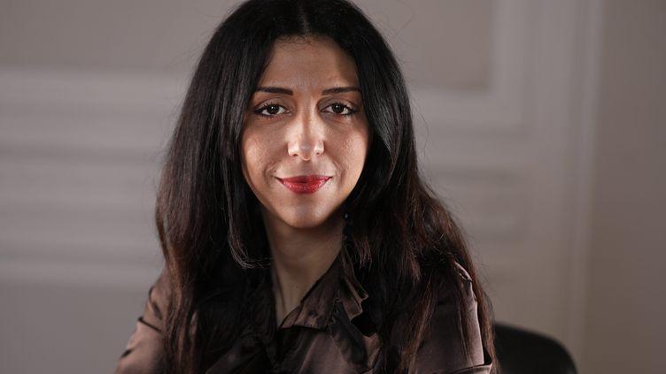 L'écrivaine Henda Ayari, à Paris, le 28 octobre 2017. (MAXPPP)