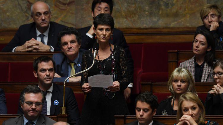 La députée LREM Delphine Bagarry, le 8 novembre 2017 à l'Assemblée nationale. (CHRISTOPHE ARCHAMBAULT / AFP)