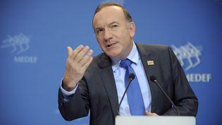 Le président du Medef, Pierre Gattaz, le 15 janvier 2014 lors d'une conférence de presse à Paris. (ERIC PIERMONT / AFP)