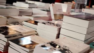 Un stand du Salon du livre de Versailles (Yvelines), le 24 mars 2014. (MAXPPP)