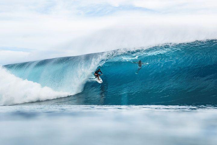 La vague de Teahupoo, l'une des plus dangereuses du monde.