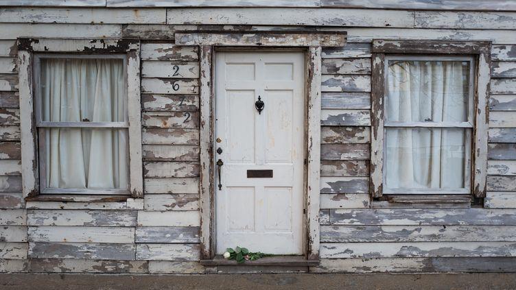 La maison de Rosa Parks, autrefois située à Détroit (Etats-Unis), a été déplacée à Berlin (Allemagne), le 7 avril 2017. (J?RG CARSTENSEN / DPA / AFP)