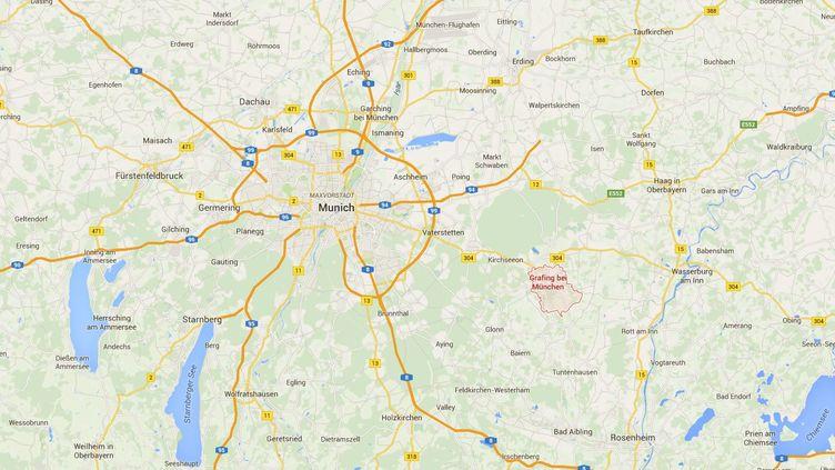La ville de Grafing se trouve au sud-est de Munich (Allemagne), en Bavière. (GOOGLE MAPS)