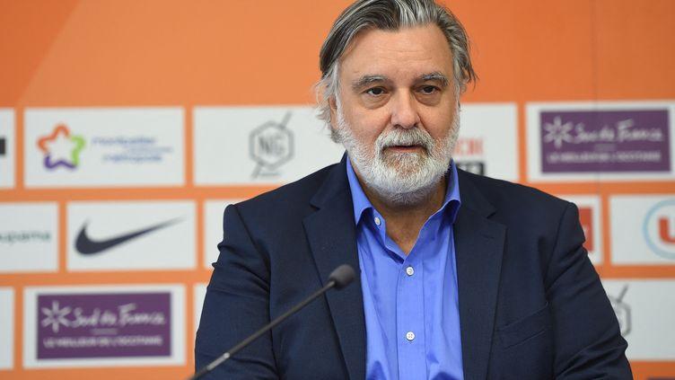 Le président du club de foot de Montpellier,Laurent Nicollin, en juin 2021. (SYLVAIN THOMAS / AFP)
