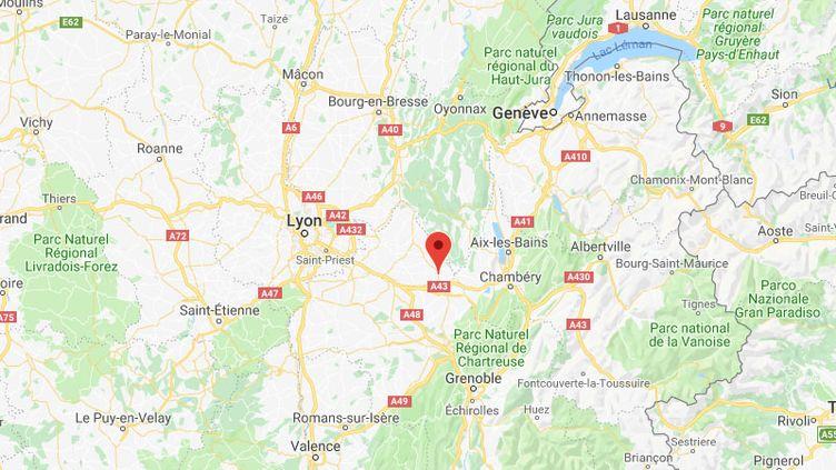 La ville de Corbelin (Isère), où les faits se seraient déroulés. (GOOGLE MAPS)