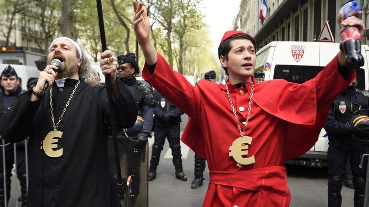 Manifestation des intermittents en avril 2016  (Eric FEFERBERG / AFP)