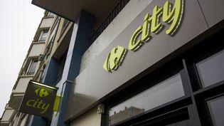 L'enseigne d'un magasin Carrefour City, en Bretagne (photo d'illustration). (MARTIN BERTRAND / HANS LUCAS / AFP)