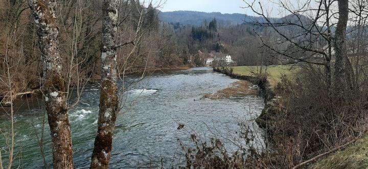 La rivière Doubs à Goumois (SEBASTIEN BAER / FRANCE INFO)