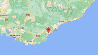 Les échauffourées se sont déroulées dans un quartier de Fréjus limitrophe de Saint-Raphaël, dans la nuit du samedi 8 au dimanche 9 mai 2021. (GOOGLE MAPS)