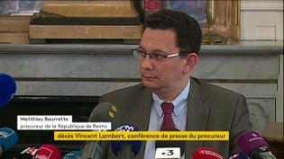 Le procureur de la République de Reims, lors d'une conférence de presse, à Reims (Marne), le 11 juillet 2019. (FRANCEINFO)