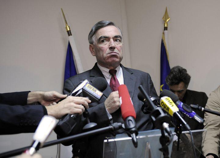 Le procureur de la République, Jean-Claude Marin, lors d'une conférence de presse à Paris, le 14 novembre 2008. (STEPHANE DE SAKUTIN / AFP)