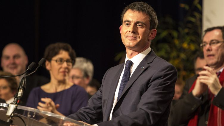 Le Premier ministre Manuel valls, le 27 février 2015 à Betton (Ille-et-Vilaine). (EMMANUEL BROSSIER / CITIZENSIDE.COM / AFP)