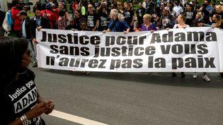 Marche commémorative pour Adama Traoré en juillet 2017. (BRUNO LEVESQUE / MAXPPP)