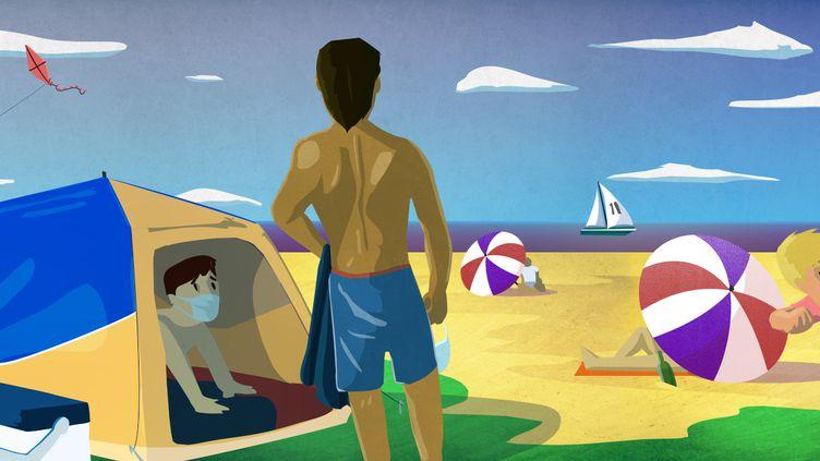 Comment vont se dérouler ces premières vacances post confinement ? Franceinfo vous aide à y voir plus clair. (PIERRE-ALBERT JAUSSERAND)