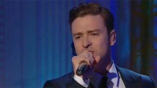 Justin Timberlake chante le 10 avril 2013 à la Maison Blanche  (DR)