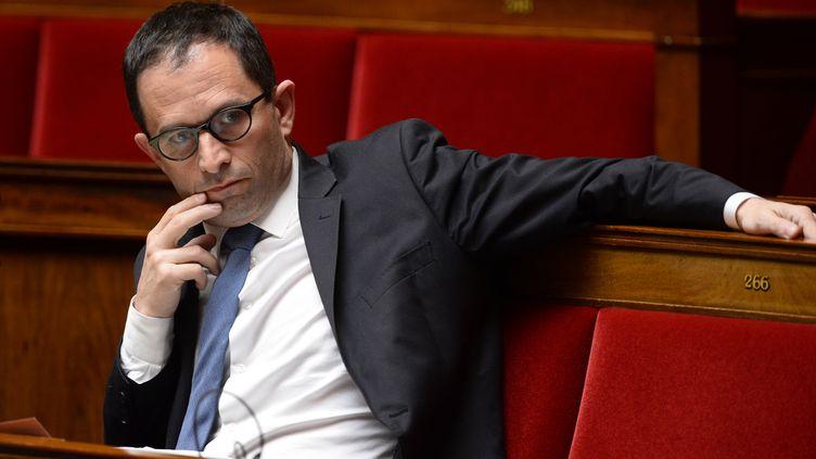 Benoît Hamon lors d'une séance à l'Assemblée nationale, à Paris, le 4 mai 2016. (BERTRAND GUAY / AFP)
