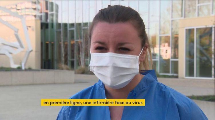 ÉmilieContino, infirmière dans une clinique de Strasbourg (Bas-Rhin) (FRANCEINFO)
