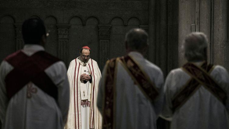 Monseigneur Philippe Barbarin, le 3 avril 2016 à Lyon (Rhône). (JEFF PACHOUD / AFP)