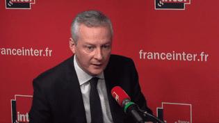 Le ministre de l'Economie et des Finances, Bruno Le Maire, le 25 novembre 2017. (France Inter)
