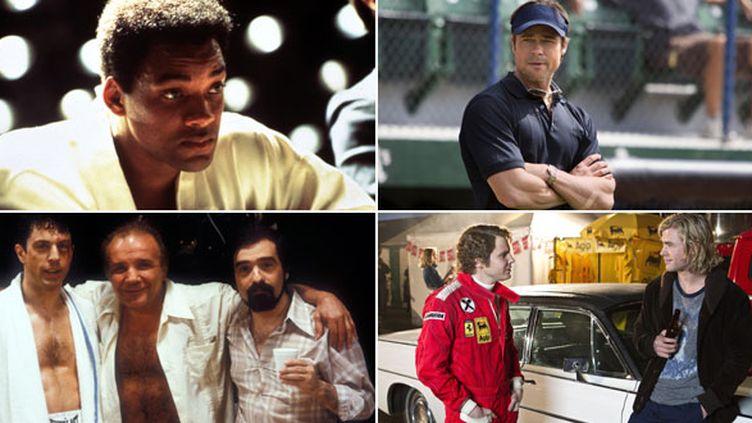 Ali, Le Stratège, Raging Bull, Rush, quatre films retraçant la vie de sportifs ou d'entraîneurs ayant existé
