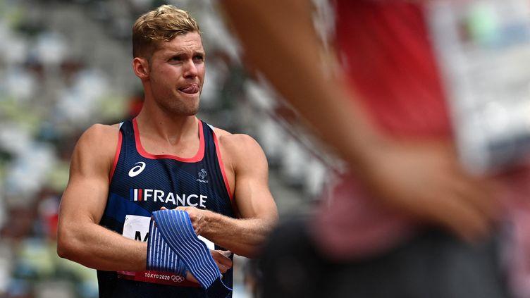 Le décathlonien Kevin Mayer durant les Jeux olympiques de Tokyo, le 4 août 2021. (BEN STANSALL / AFP)