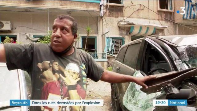 Beyrouth : dans les rues dévastées par l'explosion
