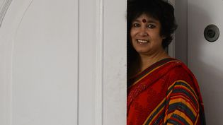 Taslima Nasreen le 1er novembre à New Dehli  (Sajjad HUSSAIN / AFP)