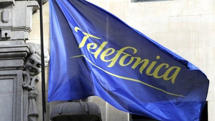 Logo du groupe de télécoms espagnol Telefonica (ici à Madrid) (AFP - DOMINIQUE FAGET)