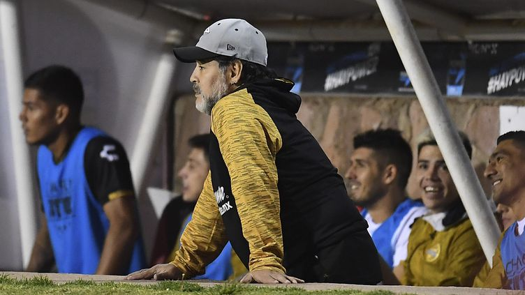 Diego Maradona lorsqu'il entraînait les Dorados (OMAR MARTINEZ)