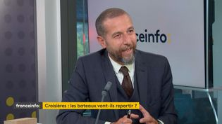 Erminio Eschena, directeur des relations institutionnelles de MSC Croisières. (FRANCEINFO / RADIOFRANCE)