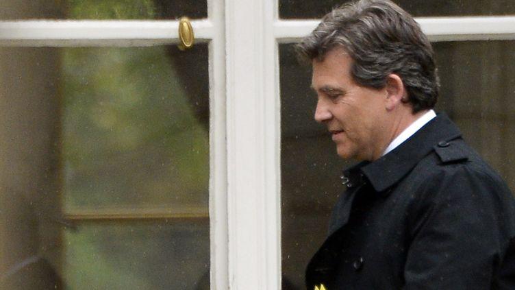 Arnaud Montebourg quitte Matignon après une entrevue avec le Premier ministre lundi 25 août 2014 (BERTRAND GUAY / AFP)
