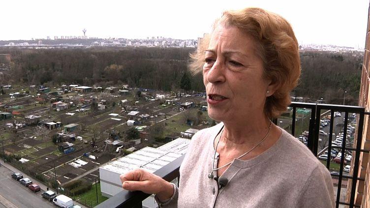 Dorita Perez ne veut pas quitter son quartier de La courtillière, à Pantin (Seine-Saint-Denis). (HP/FTV)
