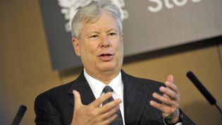 L'économiste américain Richard H. Thaler, le 24 mars 2009 à Londres (Royaume-Uni). (MAXPPP)