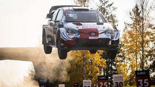 Sébastien Ogier pourrait obtenir son huitième titre de champion du monde des rallyes ce week-end. (JAANUS REE / RED BULL CONTENT POOL)