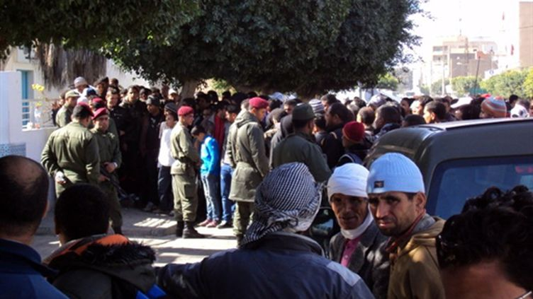 Manifestation à Sidi Bouzid (5/02/2011) (AFP/kahouli)