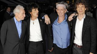 Charlie Watts, Ronnie Wood, Keith Richards et Mick Jagger des Rollins Stones, à Londres le 18 octobre 2012 (FACUNDO ARRIZABALLAGA / EPA / MaxPPP)