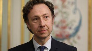 Stéphane Bern, lors de la signature de la convention du loto du patrimoine le 13 février dernier. (OLIVIER LEJEUNE / MAXPPP)