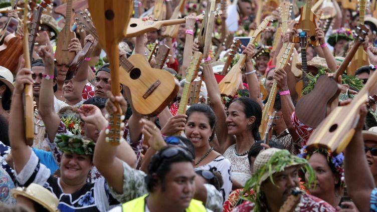 Le record du monde a été établi avec4.750 participants au concert.  (GREGORY BOISSY / AFP)
