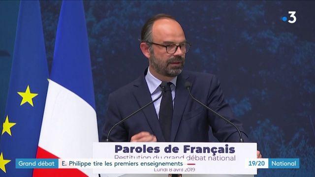 Grand débat : Édouard Philippe tire les premiers enseignements des consultations