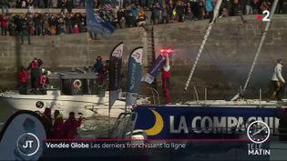 Clément Giraud arrivant aux Sables-d'Olonne. (France 2)