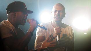Shurik'n et Akhenaton d'IAM, en concert à Métabief (Doubs), le 1er août 2014