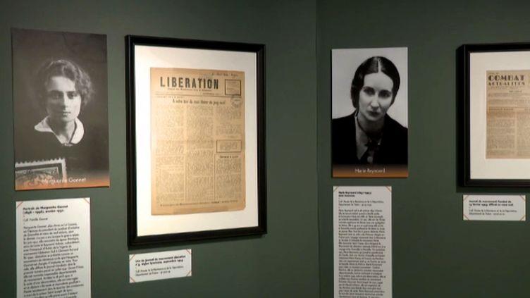 """Une sale de l'exposition """"Femmes ds années 40"""" (France 3 Alpes D. Borrelly)"""