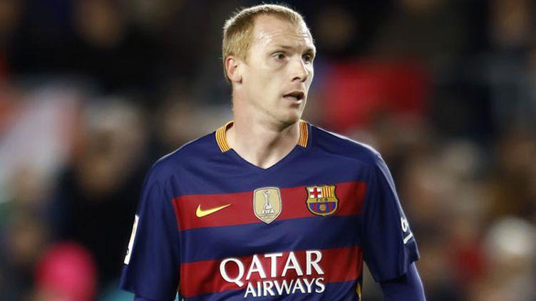Le défenseur français du FC Barcelone, Jérémy Mathieu